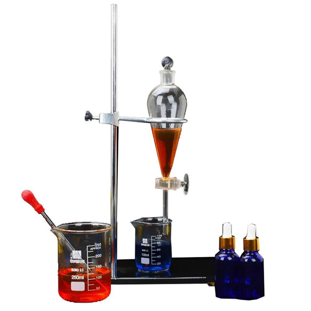 23 pièces nouveau 1000ml laboratoire appareil de Distillation huile essentielle eau Pure distillateur verrerie Kits w/Thermostat chauffage boîte de stockage - 3