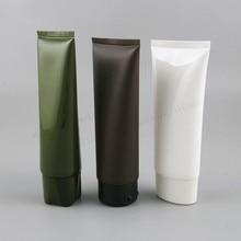 24 x PE 100 г белая зеленая мягкая трубка для очищения лица пластиковая коричневая трубка для крема для рук с фольгой косметические контейнеры