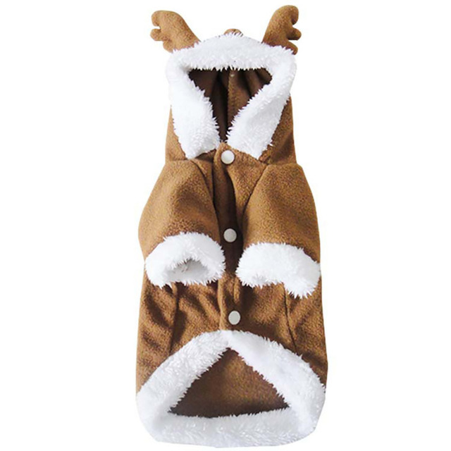 Cute Pet Clothes Warm Autumn Winter Clothing Pet Dog Clothes Halloween Costume Christmas Elk Cosplay Puppy Cloth Teddy Dog Coat