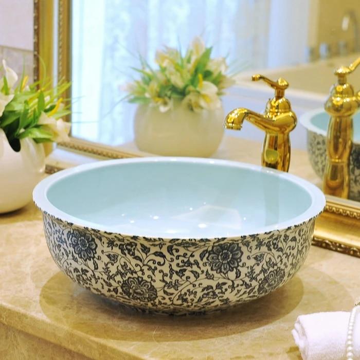 china vessel sink handmade antique ceramic wash basin lavobo round countertop bathroom sink small bathroom sink