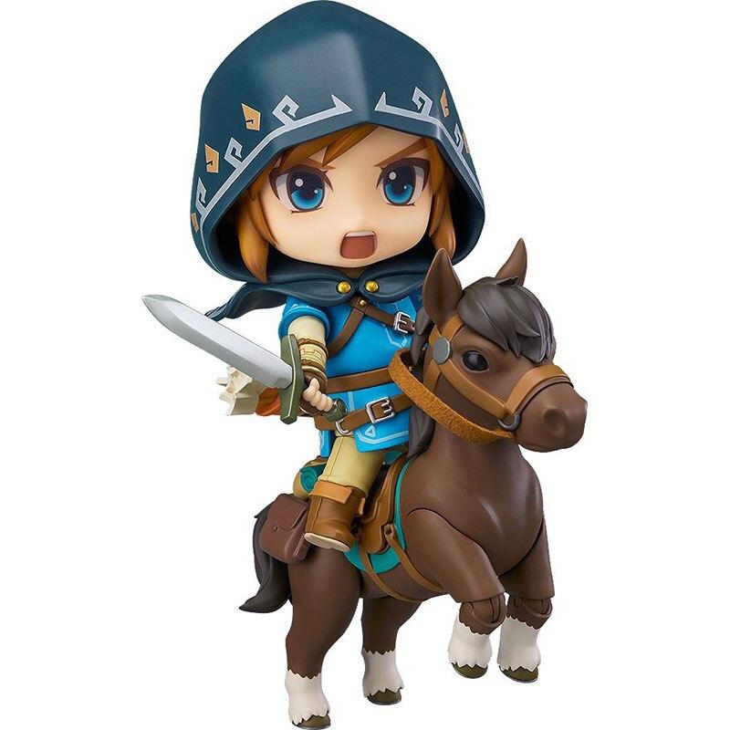 Elsadou The Legend of Zelda 733-DX Nendoroid Link Zelda Figure Breath of the Wild Ver DX Edition Deluxe Version Action Figure