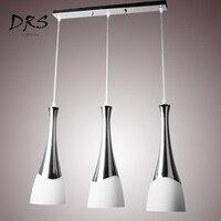 مصباح إضاءة عصري عصري بإضاءة LED معلق على شكل حبل معلق من الزجاج يصلح لغرفة الطعام وطاولة البار مصباح إضاءة