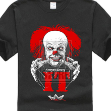 Stephen King It Horror Movie Pennywise  MenS Black T Shirt Size M 4Xl