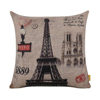 LINKWELL 45 #215 45 cm Retro paryż wieża eiffla poszewka dekoracyjne rzut poszewka na poduszkę home decor Cathedrale Notre Dame de paryż tanie i dobre opinie Drukuj Bez wzorków HANDMADE Płótno Bawełna Seat DEKORACYJNY SAMOCHÓD PRINTED SQUARE CC907 18 *18 45*45cm Paris Eiffel Tower