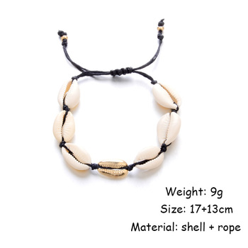 Bohemian Puka Sea Shell Conch Anklets For Women Ankle Bracelet on Leg Chain Silver Gold 5