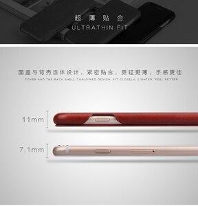 Image 3 - 100% 本物leanther iphone 6 6s 7 8プラスse 2020 × xr xs 11プロマックス12内蔵マグネットリアルレザーケース