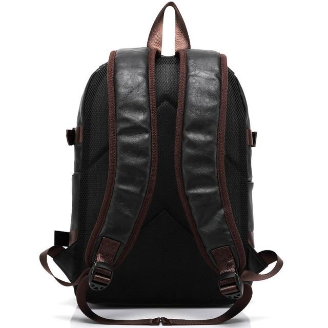 MAGIC UNION Men Oil Wax Leather Backpack Men's Casual Backpack & Travel Bags Western College Style Man Backpacks Mochila Zip Men 3