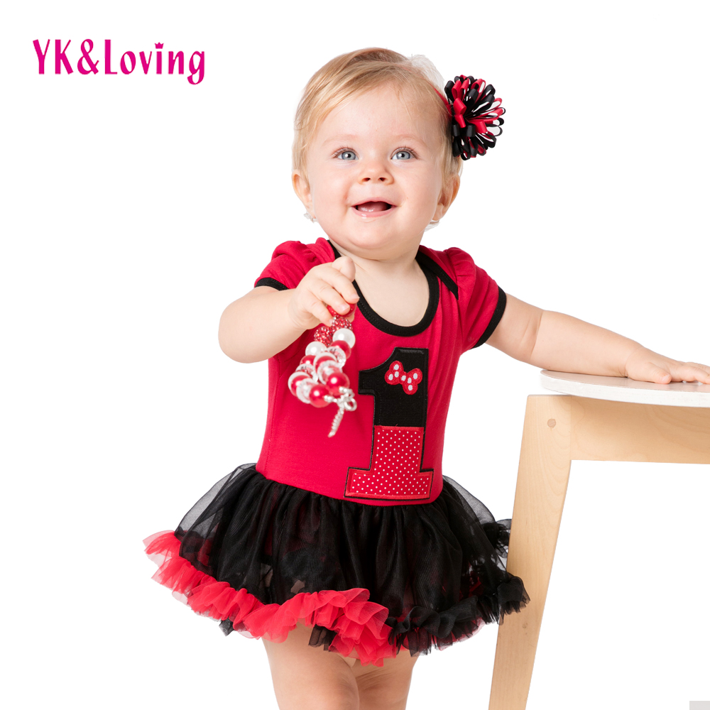 New Infant Clothing Set Baby Girl Tutu Dress 1st Birthday Party Outfit Romper Bubble Dress for Toddler 0-2Y Summer Clothes A baby girl infant 3pcs clothing sets tutu romper dress jumpersuit one or two yrs old bebe party birthday suit costumes vestidos
