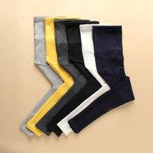 Высокие материнства Одежда для беременных брюки беременность Каприс для беременных Брюки для беременных Для женщин Pantalones полной длины