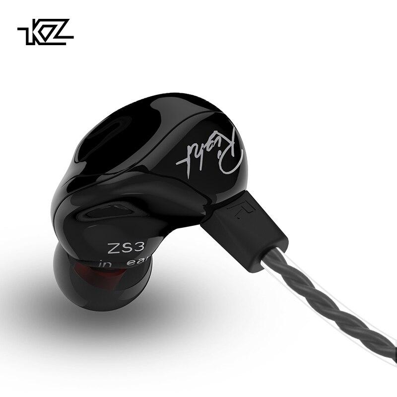 KZ ZS3 Ergonômico Destacável Cabo do Fone de ouvido Em Ouvido Monitores De Áudio Ruído Isolando HiFi Esportes Música Fones De Ouvido Com Microfone es
