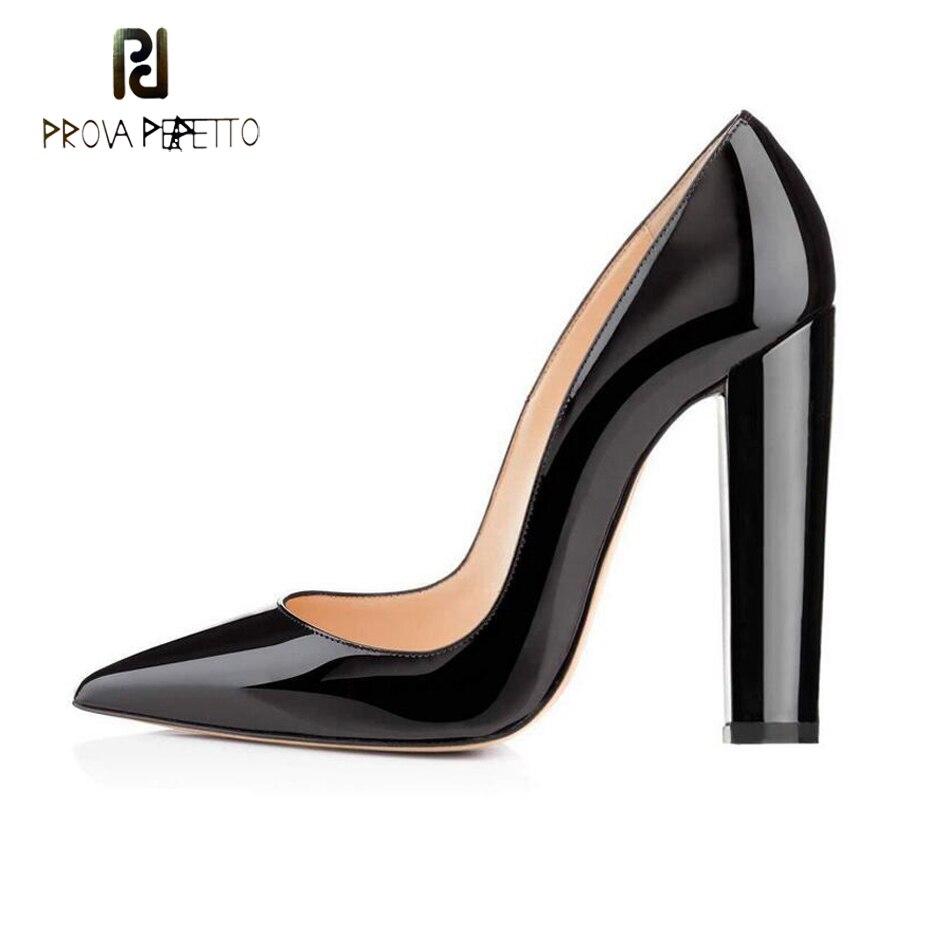 Perfetto Vestido Prova Fiesta Grueso Alto Black Suede Tacón Leather Patent Dama Las 2019 black Punta Mujeres Nuevo Leather Señora Oficina De Elegangt Zapatos Superficial paOwAqdar