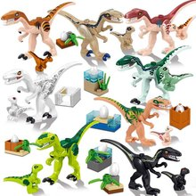 купить 8Pcs 39154 Jurassic World 2 Dinosaur baby Dinosaur Building Blocks Dinosaur Action Figure Bricks Dinosaur Toys Gift онлайн