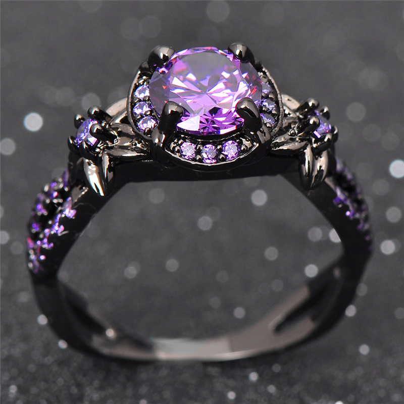 Lavender Wedding Rings