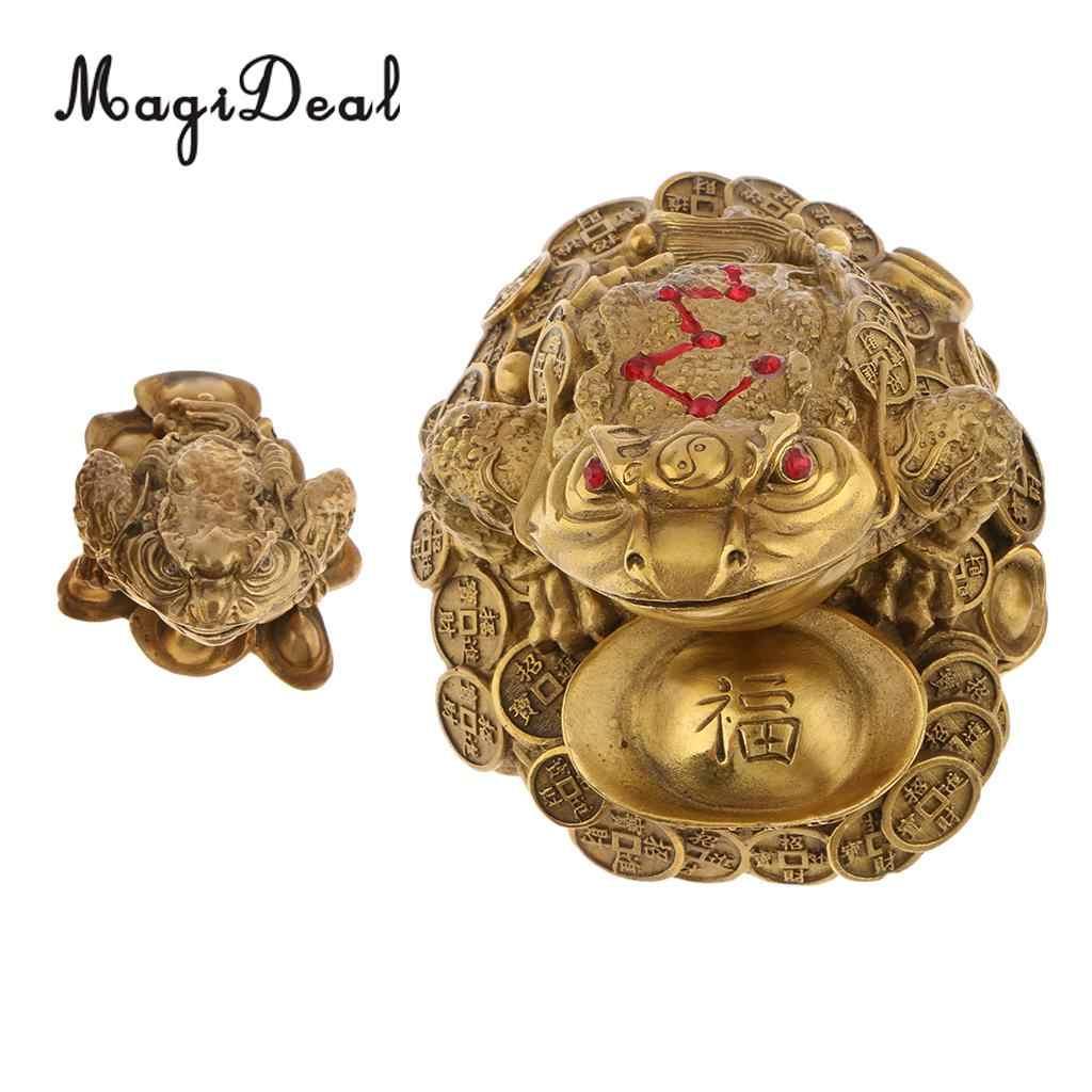 Clásico Feng Shui dinero fortuna y riqueza chino para Rana, sapo moneda adornos de mesa regalos de La Fortuna