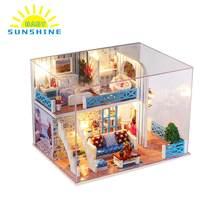 15 tipo casa de boneca em miniatura super mini tamanho de madeira móveis brinquedos modelo kits de construção casa de bonecas helen melhores presentes para crianças