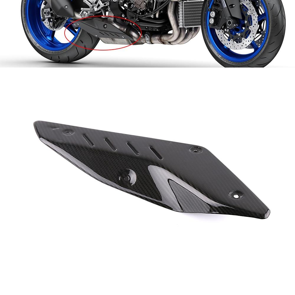 Аксессуары для мотоциклов углеродного волокна глушитель трубы тепловой защиты гвардии Обложка для Yamaha MT10 MT 10 2016 2017 2018