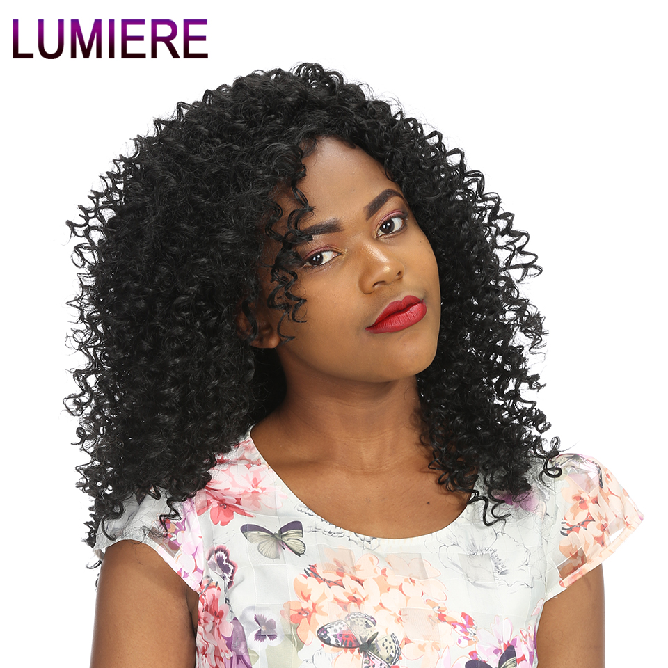 Lumiere Hair Peruvian Kinky Curly Hair 10-28 inch 100% Human Hair Weaving Natural Color Non-remy Hair Weave Free Shipping