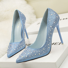 купить 2019 brand women super high heels pumps for wedding lady fashion elegant party shoes crystal pointed toe sexy heels 11 cm по цене 3791.94 рублей