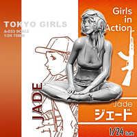 Kits de resina 1/24 (75mm) A-033 soldado de resina de la serie Tokyo beautiful girl soldier