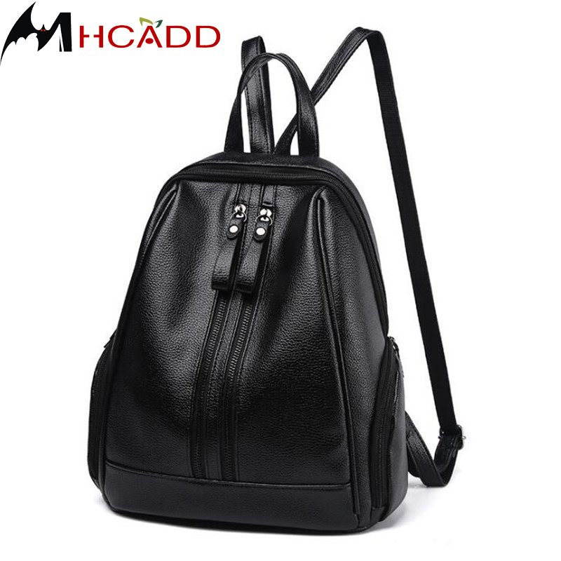 Women Vintage Leather Backpack Cheap Teenage Backpacks For Girls Casual Shoulder Bag Feminine Backpack Black Mochila School Bags children school bag minecraft cartoon backpack pupils printing school bags hot game backpacks for boys and girls mochila escolar