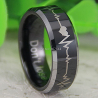 Free Shipping USA UK Canada Russia Brazil Hot Sales 8MM Black Top Silver Bevel Forever Love