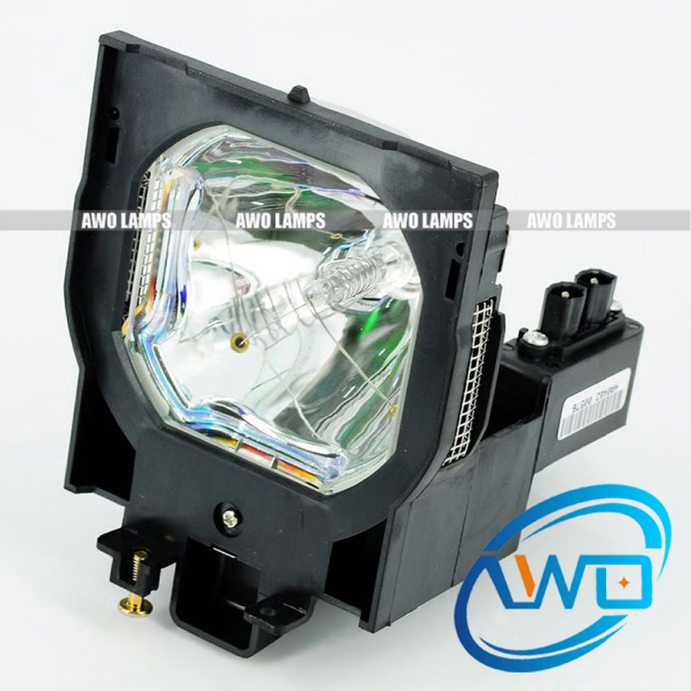 AWO Projector Lamp POA-LMP100 Compatible Replacement with Housing for SANYO PLC-XF46/XF46E/HD2000;EIKI LC-XT4 compatible projector lamp for sanyo 610 327 4928 poa lmp100 lp hd2000 plc xf46 plc xf46e plc xf46n plv hd2000 plc xf4600c