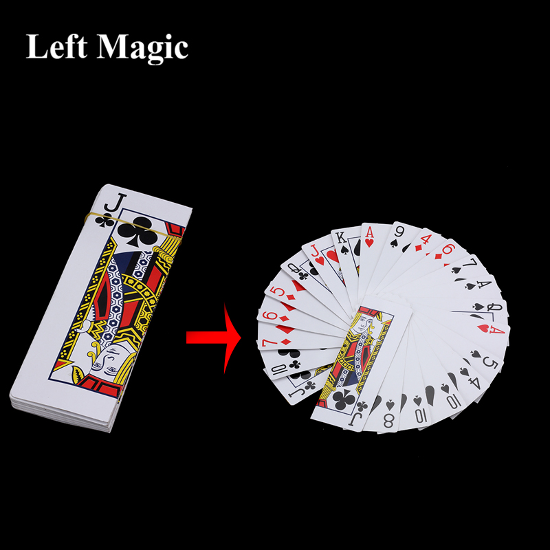 Large Card Fan Out From Hand Magic Tricks Stage Change Magic Props Classic Magic Fun Magic Accessories