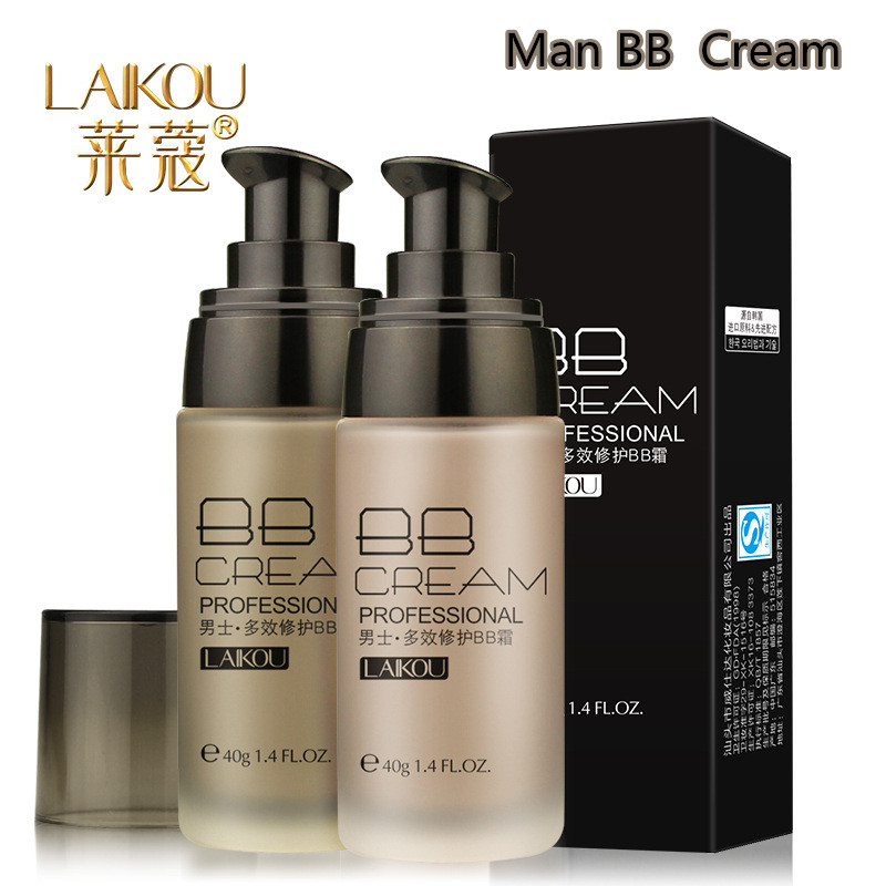 LAIKOU Brand Face Foundation Men BB Cream Long Lasting Concealer Isolation Sunscreen Whitening Blemish Waterproof Cream