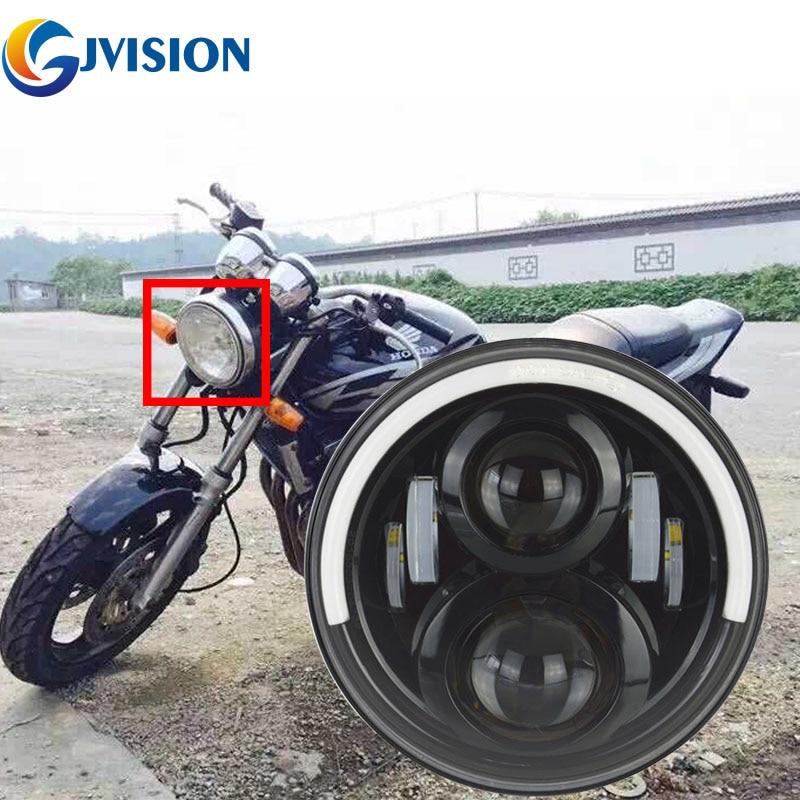 Moto phare LED 7 pouces H4 Rond phare DRL Pour Honda Moteur CB400 CB500 CB1300 Hornet 250 600 900 VTECVTR250