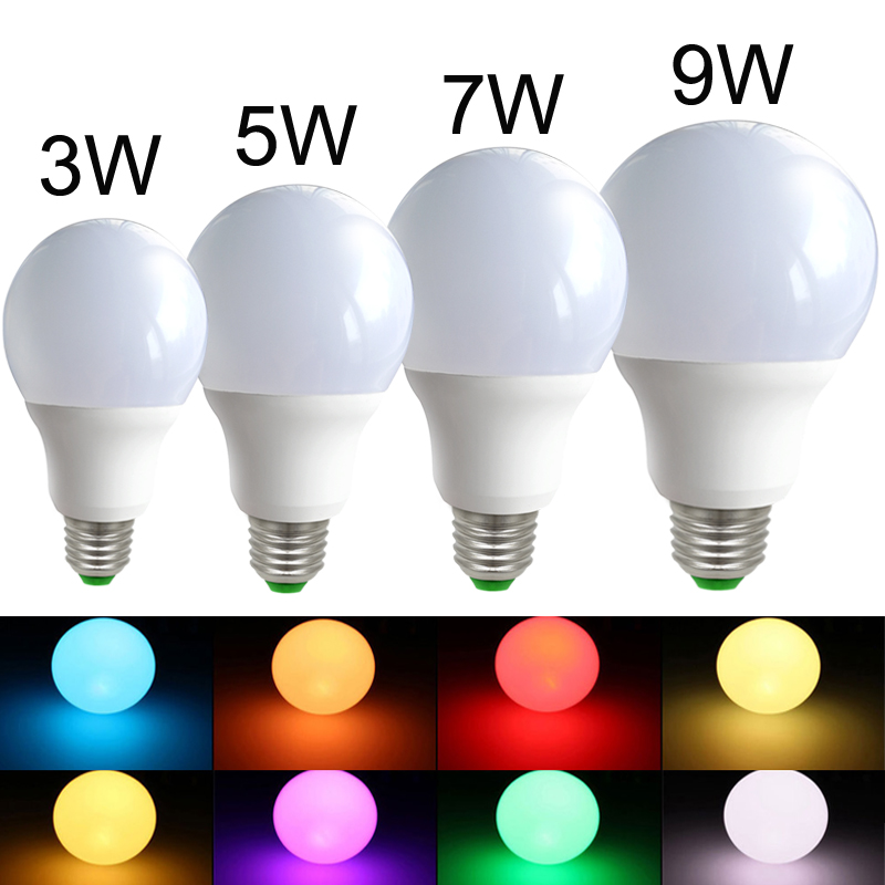 где купить E27 LED Light Bulbs led RGB Bulb 12V 16 Color Changeable Lamp LED Spotlight+24Keys IR Remote Control AC85-265V Holiday Lighting по лучшей цене