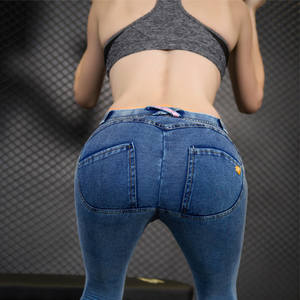 Push-Up Jeans Clothing Pencil-Pants Skinny-Button Zipper Sexy Autumn Female Plus-Size