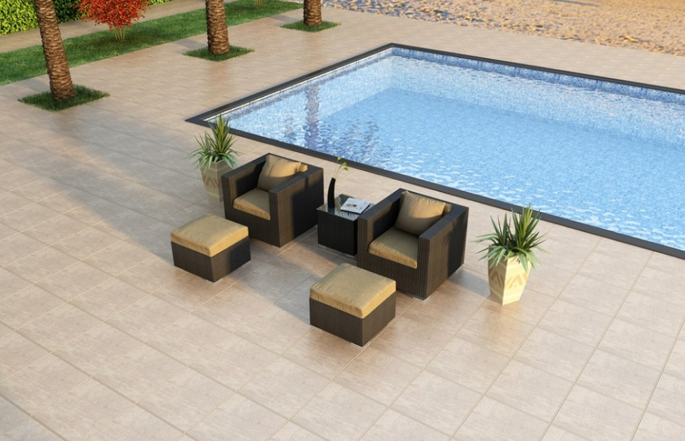 Outdoor rattan furniture 5-Piece Club Chair Set