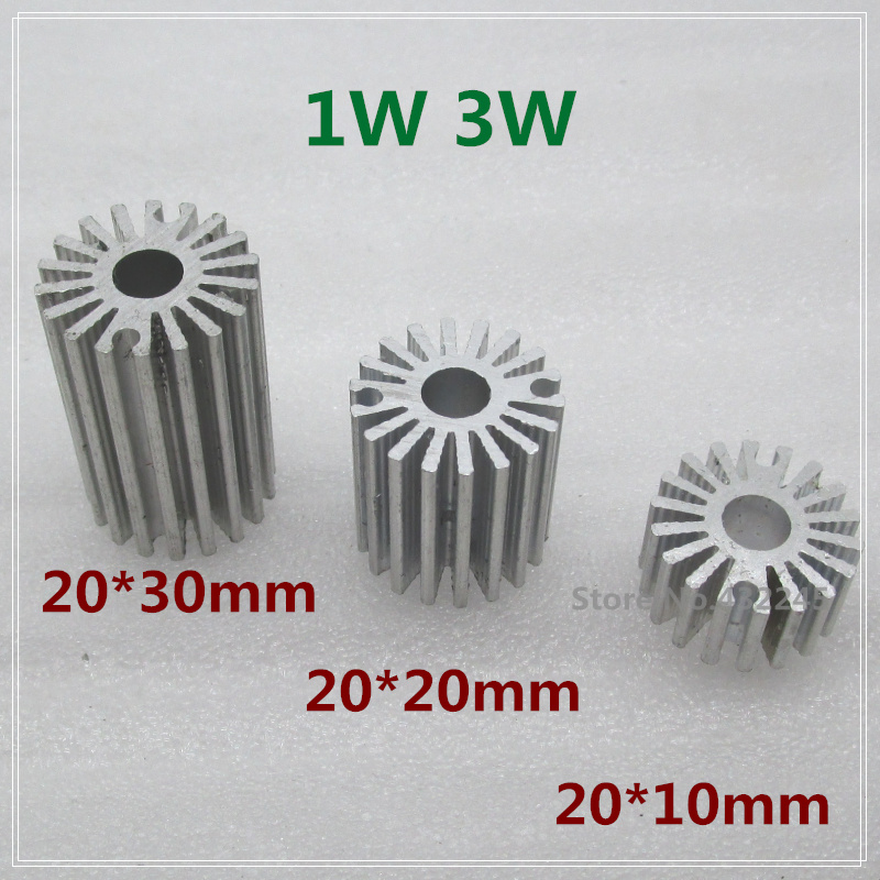 10 pieces1W 3W Aluminium Heat Sink for LED Plate Cooling. LED PCB Radiator Cooler 20*10mm  20*20mm  20*30mm. free shipping. 100 100 2mm mini aluminium heatbed heat plate for openbuilds 3d0353