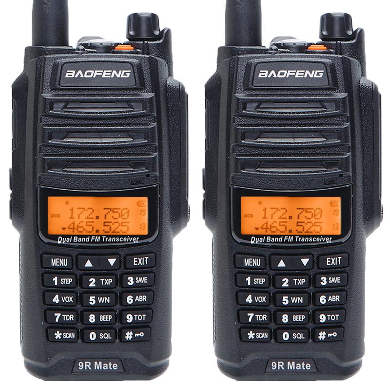 2PCS Baofeng UV 9R Mate 4500mAh 10W Upgrade UV 9R IP67 Waterproof Walkie Talkie for CB