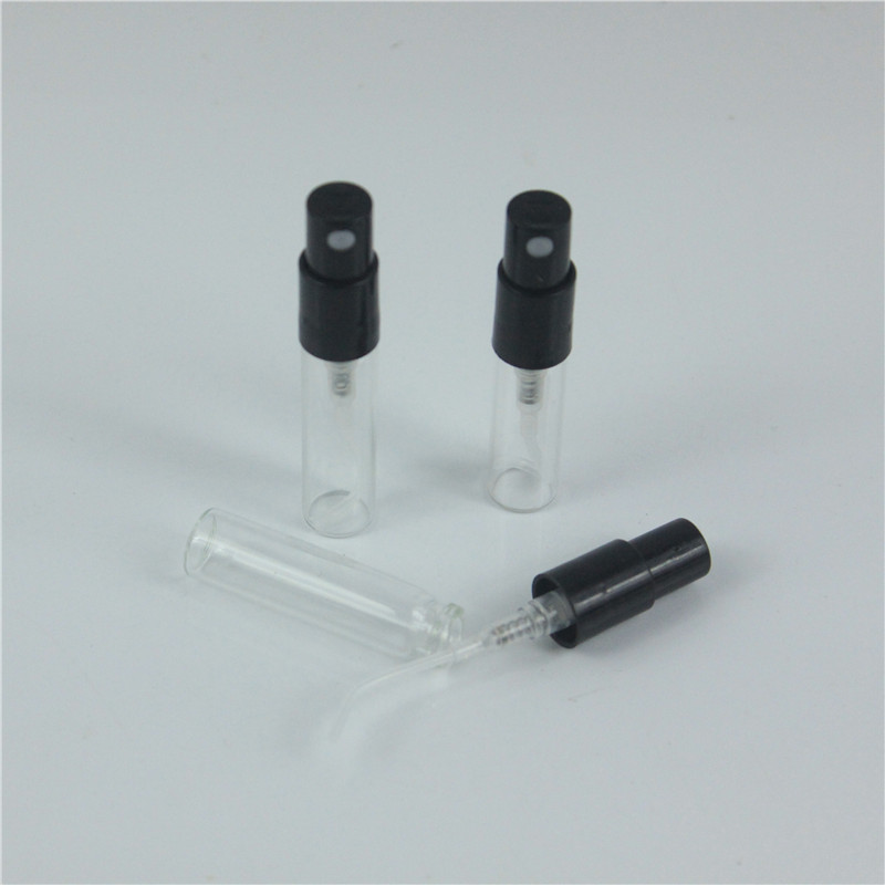 500pcs lot 2ML 3ML Glass Parfum Bottle Sample Scents Spray Bottle 3ML Refillable Fragrance Atomizer Glass
