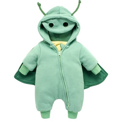 Cute Animal Autumn Winter Cotton Polyester Baby Romper Long Sleeve Coverall Hooded Infant Jumpsuit with One Piece for Toodler unisex winter baby clothes long sleeve hooded baby romper one piece covered button infant baby jumpsuit newborn romper for baby