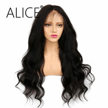 ALICE 250 Density Full Lace Wigs Body Wave Natural Color Thickest Hair Remy Brazilian Pre Plucked Glueless Full Lace Wigs