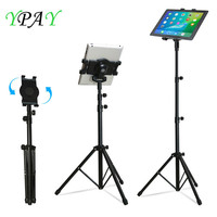 Tripod Rotation 7 10 inch Tablet Holder Stand 146cm for Ipad Air Mini Floor Stand Tablet Mount Holder with Tripod for IPAD 9.7