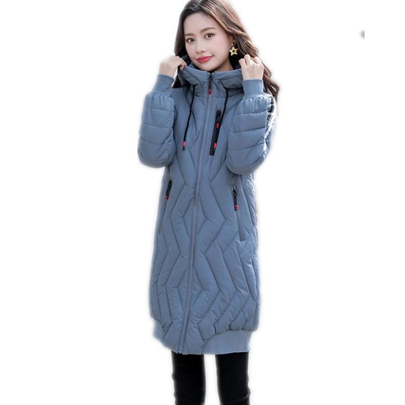 Fashion 2018 New Winter Women Jackets Hooded Warm Thicken Cotton-Padded Winter Coats Female Medium-Long Slim   Parkas   Mujer Q1083