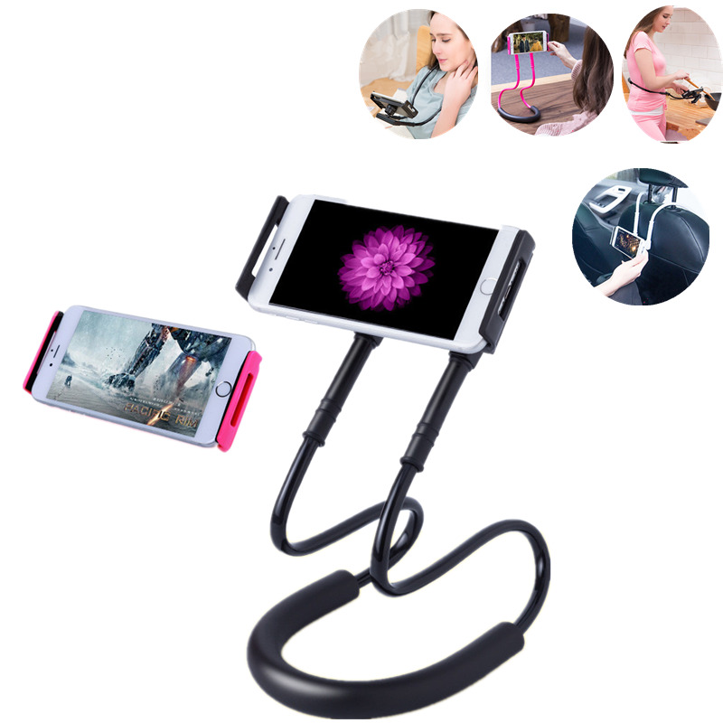 Car Neck Phone Holder Stand For iPhone Desk 360 Degree Rotation Mobile Phone Mount Bracket Cell Phone Holder Stand