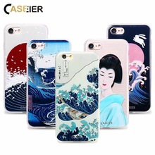 CASEIER Phone Case For iPhone 6 6s Plus Soft TPU Ultra-thin Japanese Style Cover For iPhone 5 5s SE Relief Silicone phone Shell