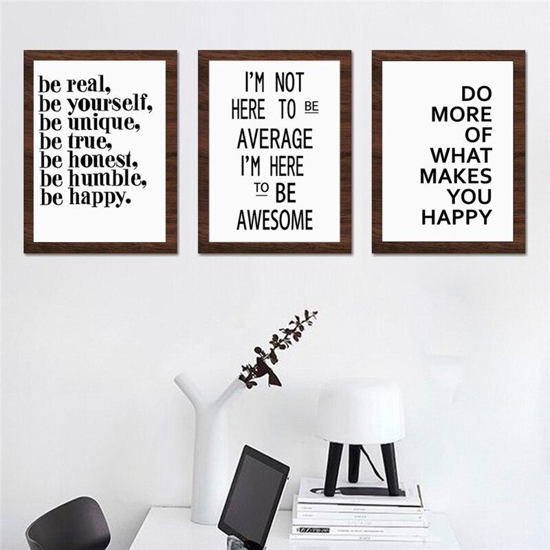 Us 412 45 Offhaochu Inspirujące życie Motto Angielski List Druku Typografia Plakat Na ścianie Sztuki Na Płótnie Malarstwo Dla Pokoju Gościnnego