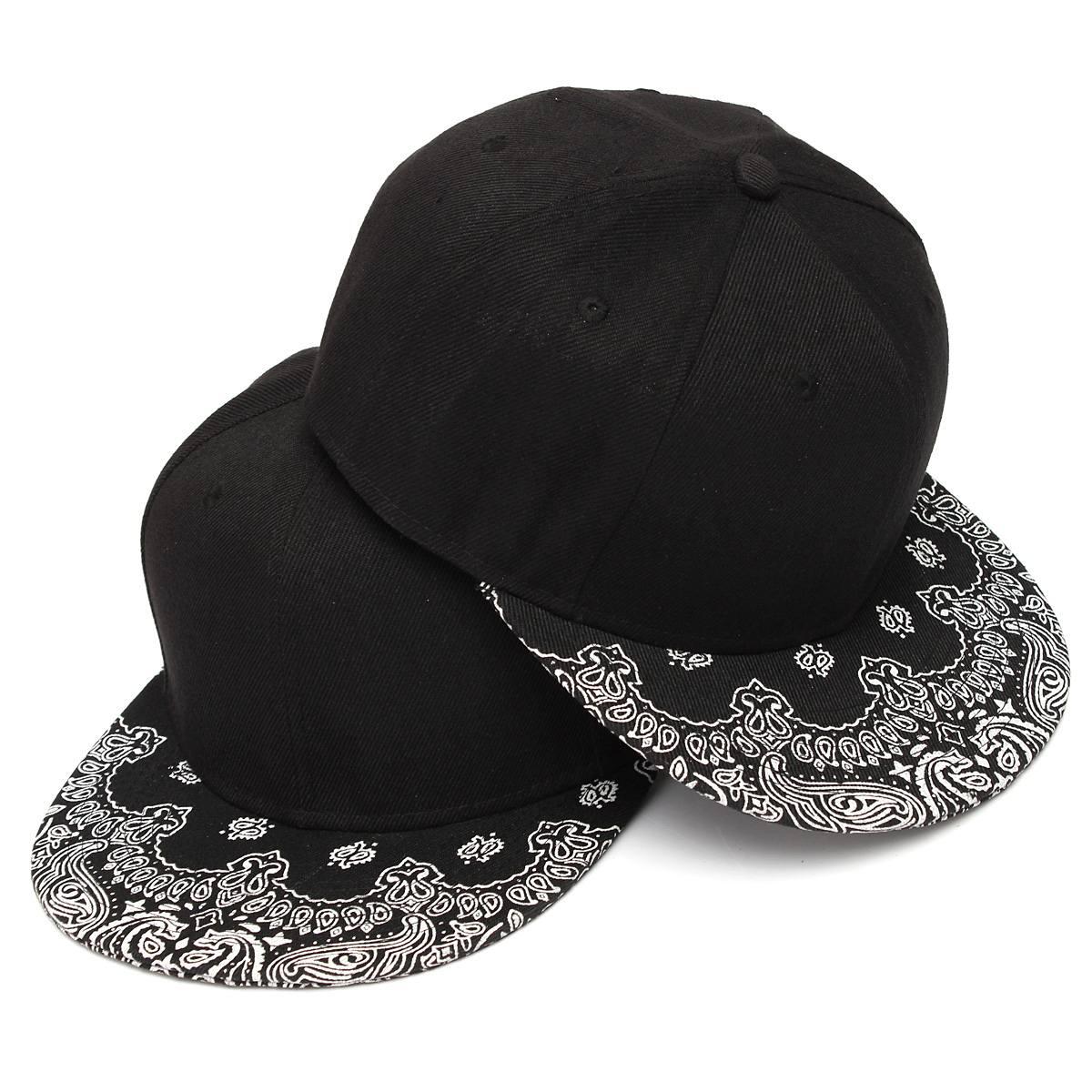 New Paisley Black Adult Snapback Hiphop Bboy Hat Adjustable   Baseball     Cap   Unisex