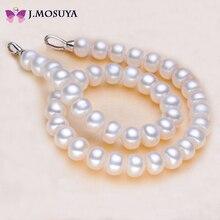 J. MOSUYA Joyería de Perlas Verdadero de Agua Dulce Naturales Collar de Perlas Para Las Mujeres Blanco Rosa Púrpura
