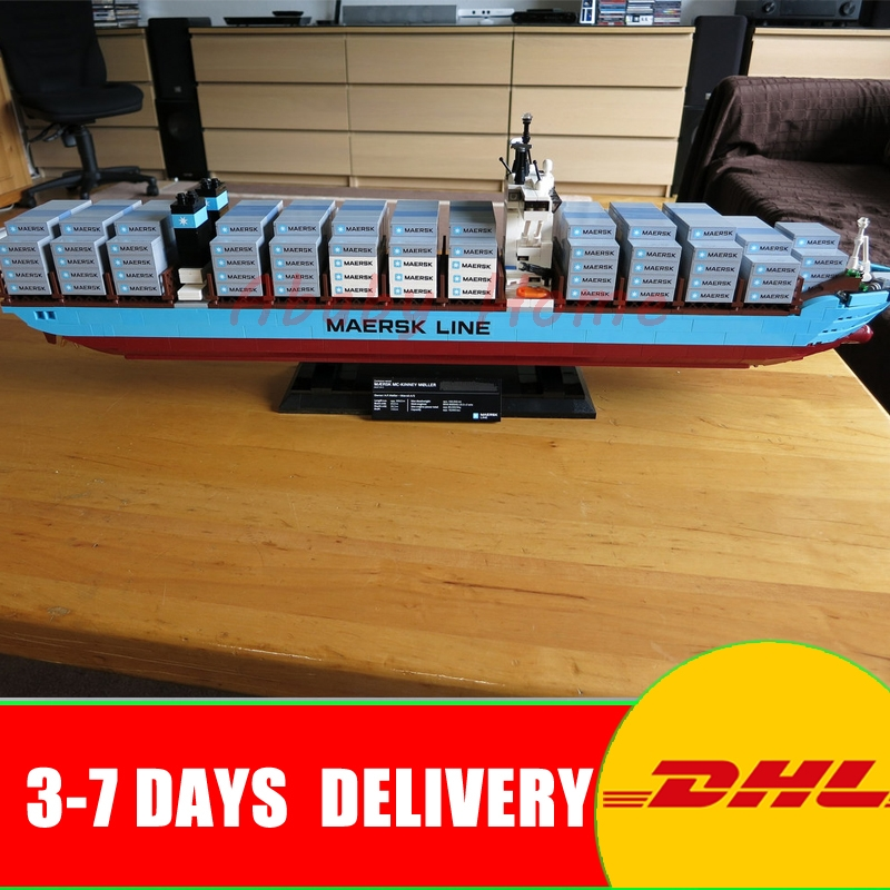 Lepin 22002 1518Pcs Technic Series The Maersk Cargo Container Ship Set Educational Building Blocks Bricks Model Toys Gift 10241 lepin 20076 technic series the mack big