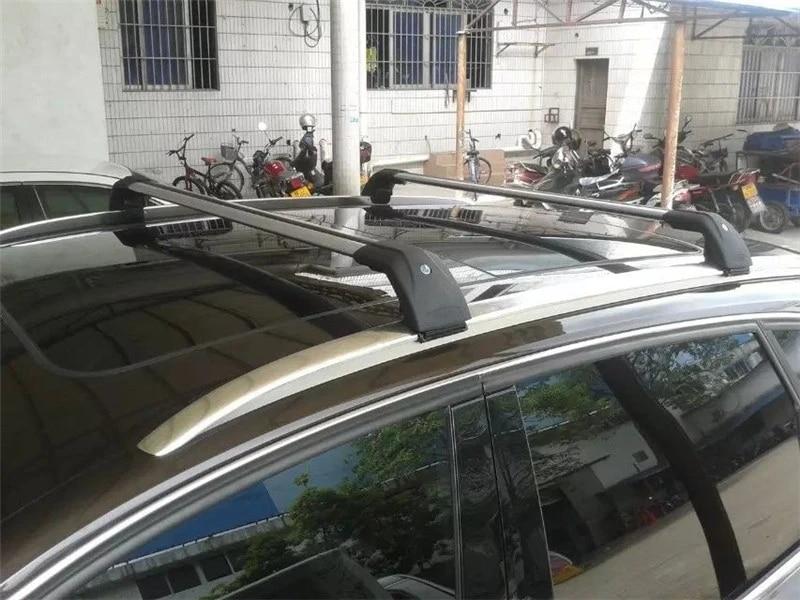high quality aluminum cross bar fit for volkswagen vw tiguan 2017 2018 2019 2020 roof rail rack baggage pair