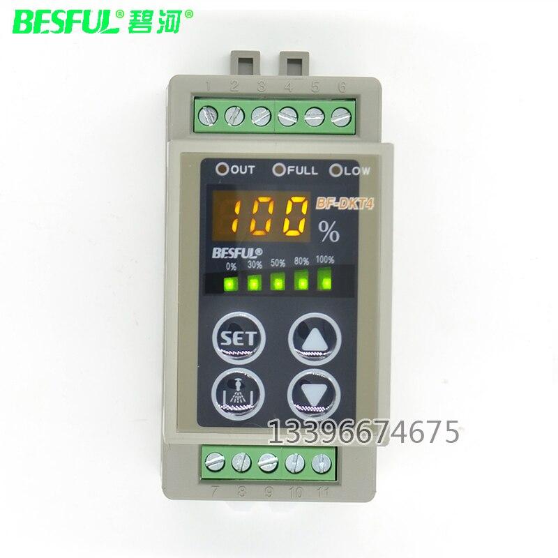 BESFUL BF-DKT4 contrôleur de niveau d'affichage numérique réglable interrupteur de niveau d'eau réservoir d'eau instrument de contrôle automatique de l'eau - 2