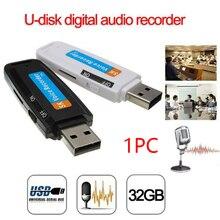 Мини перезаряжаемый U диск пластиковый Профессиональный диктофон портативный Поддержка TF карта аудио ручка флеш-накопитель цифровой USB WAV