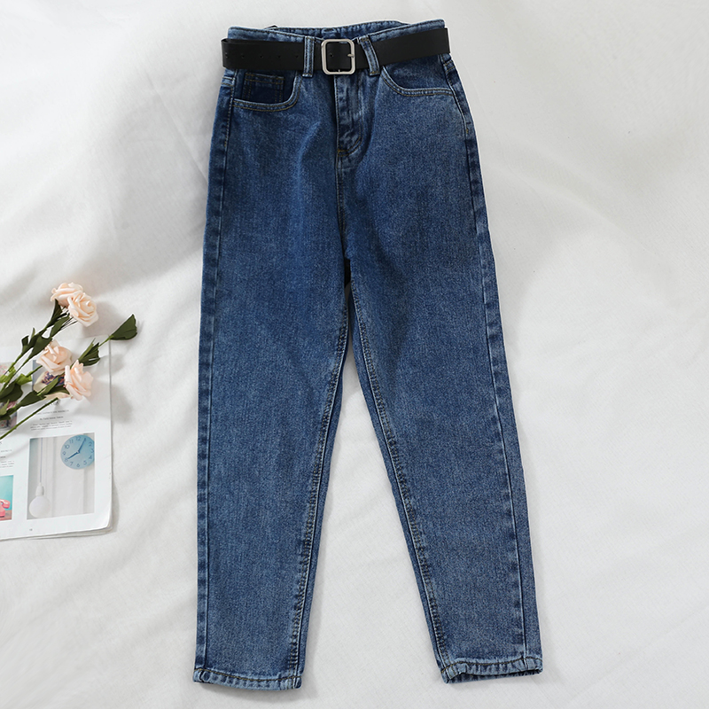 2018 new fashion women's jeans retro loose high waist casual denim pants  female Harlan trousers