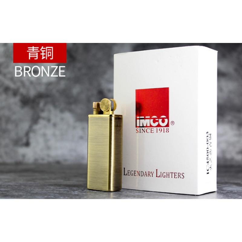 Genuine IMCO Kerosene Lighter Retro Brass Petrol Windproof Lighter Original  Oil Gasoline Cigarette Lighter Cigar Fire Smoker